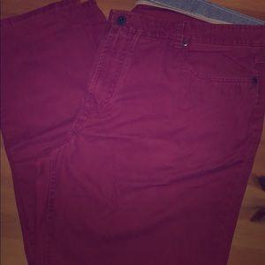 Men's colored khakis